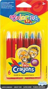Obličejové barvy Colorino - 6 barev