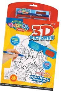 3D omalovánky - 24 obrázků