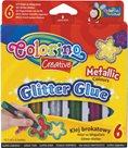 Glitrový lepící popisovač - 6 barev - metalické