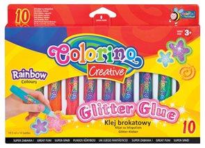 Dekorativní lepící popisovač - 10 barev - duhové