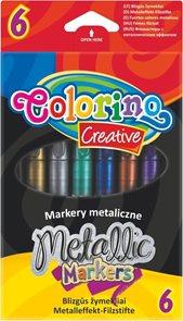 Fixy Colorino - Metalické, 6 barev