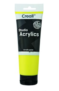 Akrylová barva Creall - 250 ml - citronově žlutá
