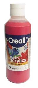Akrylová barva Creall 250 ml - purpurově červená