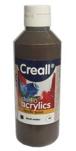 Akrylová barva Creall 250 ml - umbra pálená