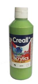 Akrylová barva Creall 250 ml - perleťově zelená