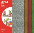 APLI Pěnovka 21 x 29,7 cm - třpytivá - sada 4 barev