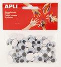 APLI Pohyblivé oči - oválné, mix velikostí - 100 ks