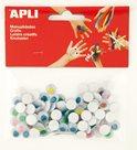 APLI Pohyblivé oči - kulaté, barevné - 100 ks