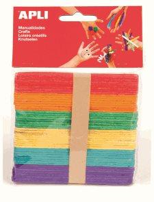 APLI Nanuková dřívka - barevný mix - 50 ks