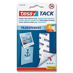 Tesa Oboustranně lepicí polštářky TACK - transparentní