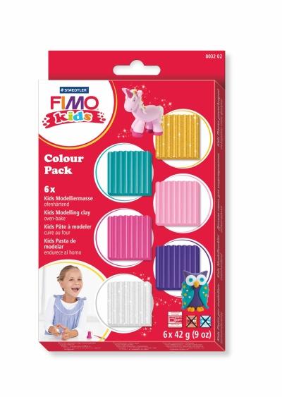 Sada FIMO Kids - holčičí - 6 x 42 g