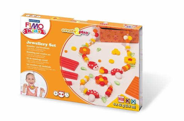Sada FIMO Kids Create & Play - Šperková sada - kytky