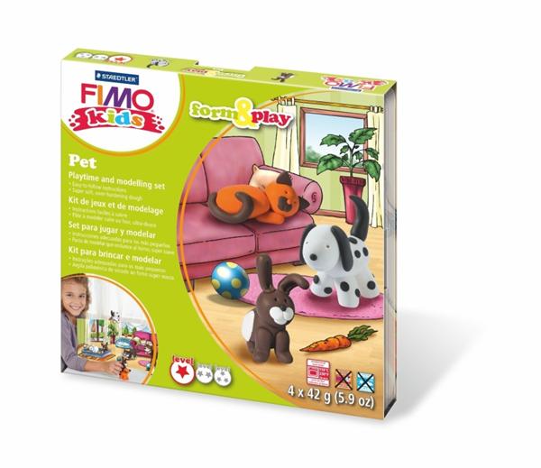 Sada FIMO Kids Form & Play - Mazlíčci ( 4 x 42g )