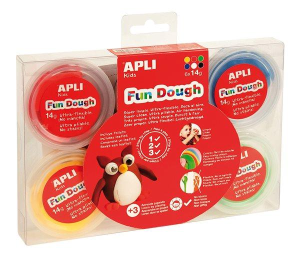 Modelovací hmota APLI Fun Dough - 6 x 14 g