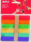 APLI Nanuková dřívka - barevný mix - 40 ks ( větší )