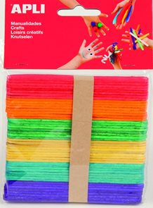 Nanuková dřívka - barevný mix - 40 ks ( větší )