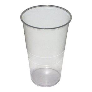 Kelímky 500 ml - plastové transparentní  ( 50ks )