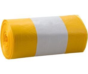 Pytle na odpad 30 l - žluté zatahovací ( 15 ks )