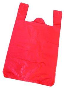 Taška mikrotenová 10 kg - červená (100 ks)