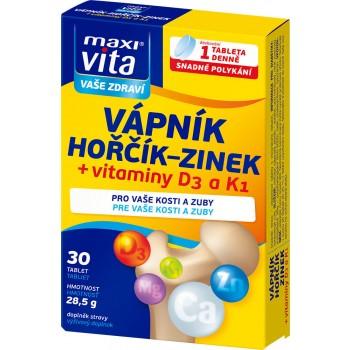 MaxiVita Vápník + hořčík + zinek + D3 + K1