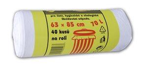 Pytle na odpad 70 l - bílé  ( 40 ks )