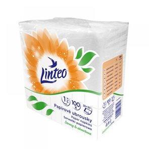 Ubrousky Linteo 1 vrstvé - bílé  ( 100 ks )