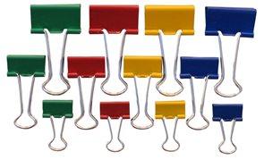 Europen Klip Binder15 mm barevný