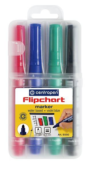 Centropen Popisovač 8550 na flipcharty - 4 barvy