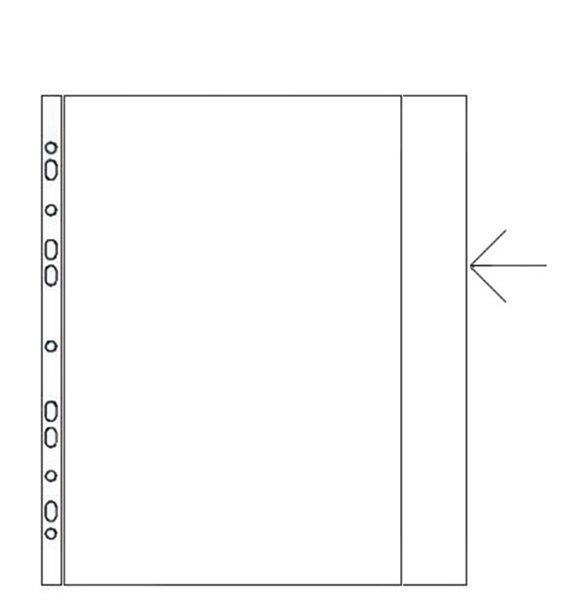 Karton PP Zakládací obal A4 s euroděrováním a chlopní matný 120 mic - 10 ks, Sleva 18%