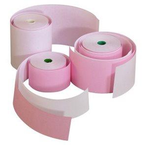 Pokladní páska 76 mm / 60 m / 17 mm / 1+1  (samopropisující pásky s 1 kopií)