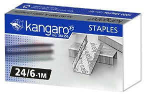 Kangaro Drátky do sešívačky 24/6 - 1000ks