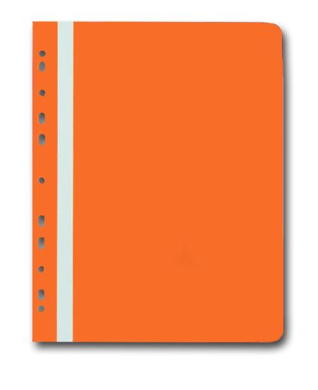 PP Rychlovazač plastový A4 s euroděrováním 1 ks - oranžový