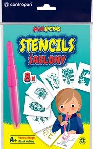 Centropen Šablony 9996 pro foukací fixy set A+