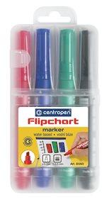 Centropen Popisovač 8560 na flipcharty - sada 4 barev