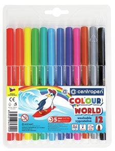 Centropen Popisovač COLOUR WORLD 7550 trojboký - sada 12 barev