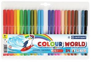 Centropen Popisovač trojboký 7550 - sada 24 barev