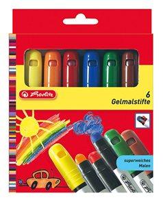 Herlitz Gelové voskovky - 6 barev