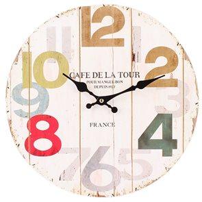 Hodiny Café de la Tour 34 cm