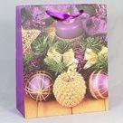 Dárková vánoční taška fialová (26 x 32 x 12 cm)