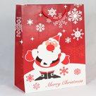 Dárková vánoční taška červená (26 x 32 x 12 cm)