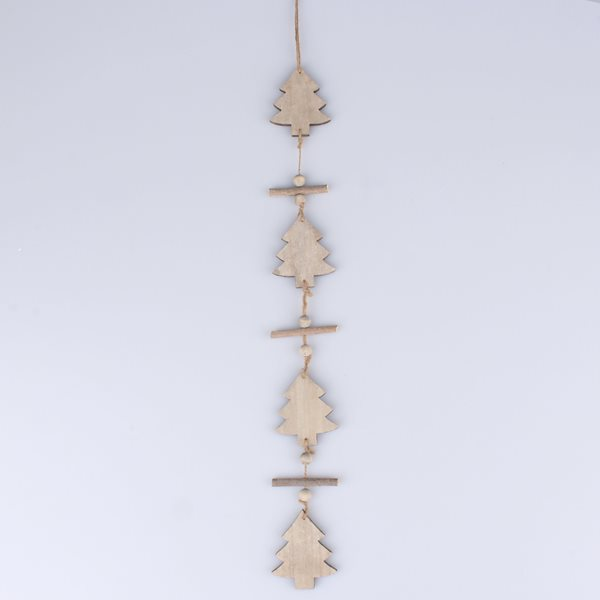 Vánoční girlanda Stromky - světle šedá