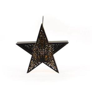 Kovová lucerna - Hvězda