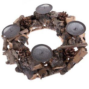 Dřevěný svícen - věnec