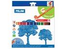 Milan Pastelky  dřevěné - 24 barev, trojhranné