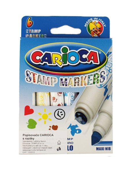 Carioca Popisovače s razítky - 6 barev