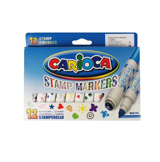 Carioca Popisovače s razítky - 12 barev