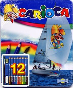 Carioca 12 ks v plechu Akvarelové pastely