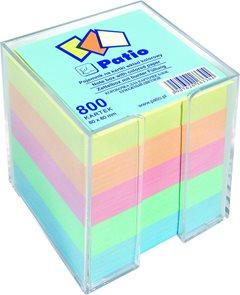 Poznámkový papír v zásobníku 80x80x800 listů - barevný mix