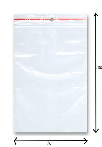 Sáček rychlozavírací 100ks - 70x100 mm