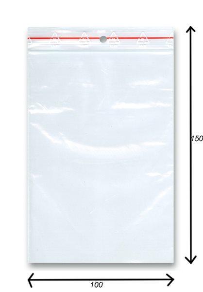 Sáček rychlozavírací 100ks - 100x150 mm